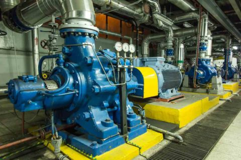 Pump operations by Simonds Machinery Co.