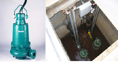 Wastewater pumps at Simonds Machinery Co